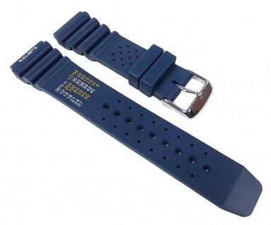 Silikon Sport Diver Uhrenarmband für Taucheruhren aus weichem Silikon Blau 22330S