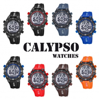 Calypso Herrenarmbanduhr Quarzuhr Kunststoffuhr mit Polyurethanband Alarm-Chronograph digital alle Modelle K5701