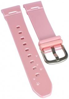 Ersatzband für Casio Baby-G Puppy´s Party Damenuhrarmband aus Resin rosa BG-1300PP