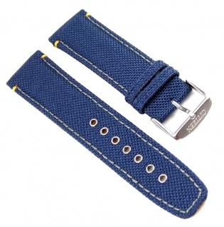 Citizen Marken Uhrenarmband Leder / Textil Band Blau 23mm 59-S52446