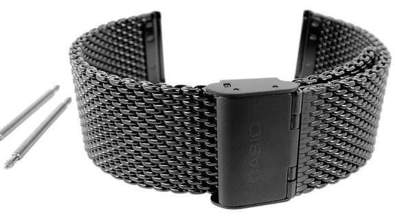 Casio Armband | Uhrenarmband Edelstahl Band IP-Schwarz für Collection MTP-1351BD