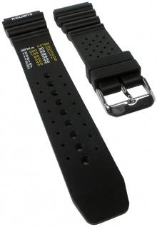 Minott Taucherband mit Dekompressionstabelle | Uhrenarmband Kunststoff Band schwarz weich 30821S