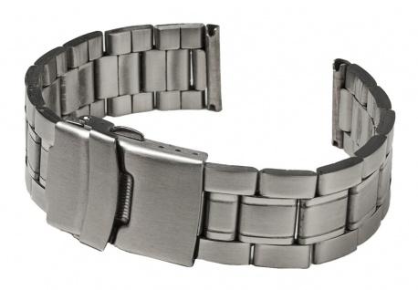 Minott Uhrenarmband Edelstahl Band Silberfarben matt/hochglanz 18mm SG-25360