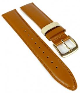 Timex Easy Reader Ersatzband 20mm Leder glatt braun Naht PW2R62300 TW2R62700