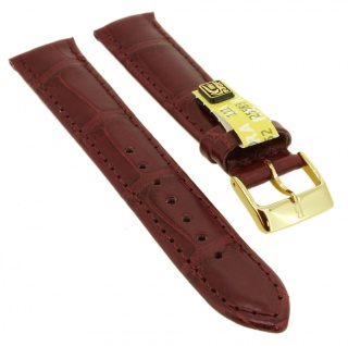 Uhrenarmband | aus echtem Louisiana Krokoleder | pink | 35365