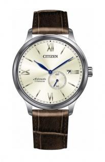Citizen Automatik | Herrenuhr, analog mit kleiner Sekunde, Lederband / Titangehäuse NJ0090-13P