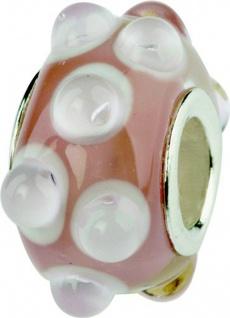 Charlot Borgen Marken Damen Bead Beads Drops Kristallglas Silberkern GPS-45Rosa