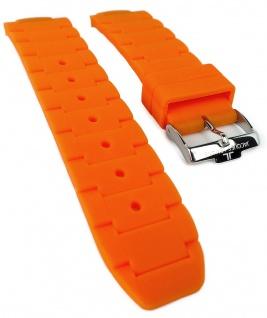 Jacques Lemans Milano Sport 1-1712 Ersatzband orange Uhrenarmband Silikon Band 1-1713 1-1717 1-1726