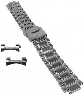 Casio Armband | Uhrenarmband Edelstahl Band Silberfarben für Edifice EF-563D