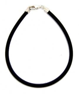 Minott Kautschuk Armband mit Silber Schließe 3/190mm