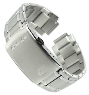 Casio Edifice Ersatzband 22mm Uhrenarmband Edelstahl Band silberfarben EQS-600D-1A2 EQS-600DB-1A4