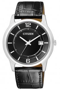 Herrenuhr analog schwarz klassische Citizen Armbanduhr BD0021-01E