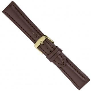 Uhrenarmband Ersatzband Leder Band Braun 26551G