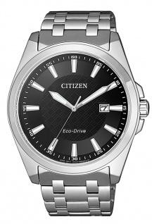 Citizen Eco-Drive Herren-, Solaruhr mit Saphirglas | Edelstahlband | silbern > BM7108-81E
