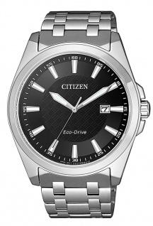 Citizen Eco-Drive Herren Solaruhr Saphirglas Edelstahlband | silbern BM7108-81E