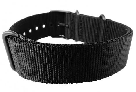 Timex Weekender Nato-Band 20mm Uhrenarmband Durchzugsband Textil schwarz Band TW2P71500 - Vorschau 2