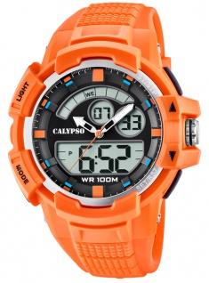 Calypso Armbanduhr PU-Band orange Kunststoff Quarzwerk Analog Digitaluhr K5767/1 K5767