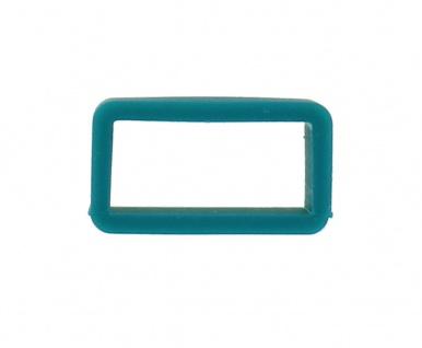 Minott Silikon-Schlaufe 14mm Schließenanstoß türkis für Silikon-Uhrenarmbänder 31548