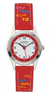 Adora Young Line   analoge Quarz Armbanduhr aus Edelstahl mit rotem Kunststoffband   36111