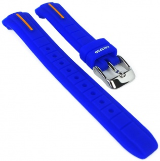 Calypso Ersatzband blau Uhrenarmband Kunststoff Band Dornschließe K6068/3 K6068