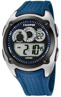 Calypso Herrenarmbanduhr Quarz Digital Kunststoff Kunststoffband blau K5722/3