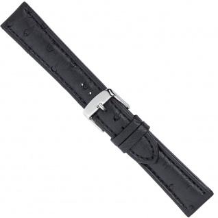 Uhrenarmband Ersatzband Leder Band Schwarz 26568S