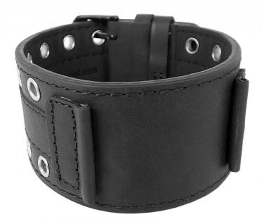 Bruno Banani Uhrenarmband Leder Band schwarz für Linos BR20941