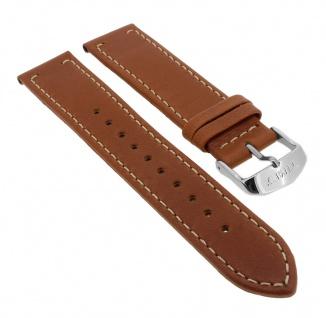 Timex Waterbury 20mm | Ersatzband Leder braun mit heller Kontrastnaht für TW2P95800