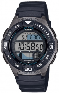 Casio Collection Herrenuhr Mondphasenanzeige Resin Timer WS-1100H-1AVEF