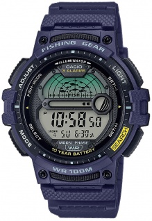 Casio Collection Digitaluhr blau Schlummerfunktion Acrylglas WS-1200H-2AVEF