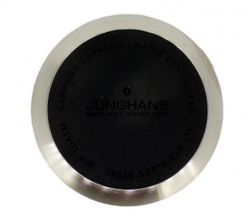 Junghans Mega Bodendeckel für Gehäuse Deckel Edelstahl silberfarben / schwarz 054/4320