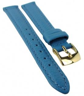 Minott Uhrenarmband Rindsleder Band Blau 25467G