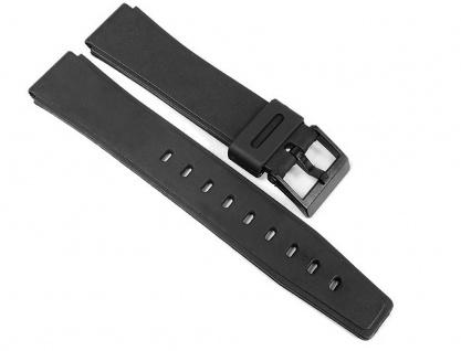 Uhrenarmband Kunststoff Band glatt schwarz 17mm Minott 24082