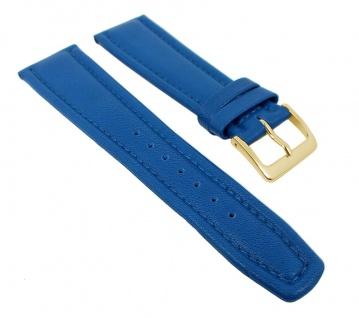 Graf Manufaktur Montana Uhrenarmband Walknappa Band XL Länge Blau 26360G