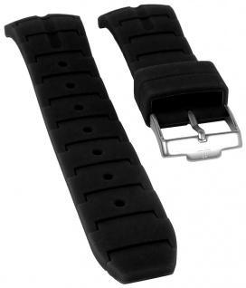 Jacques Lemans Uhrenarmband Silikon Band schwarz für Powerchrono 1-1757A 1-1757