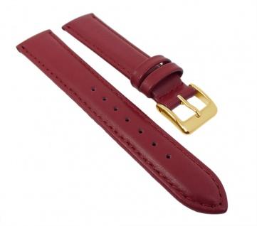 Herzog Uhrenarmband Seidenkalb Leder Band Rot 26700G