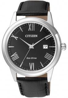 Solaruhr Citizen Eco-Drive Sports Herrenuhr Armbanduhr mit Lederarmband AW1231-07E