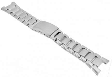 Casio Edifice Chronograph Ersatzband Edelstahl GW-1700DE Band silberfarben matt GW-1700DE-1AV
