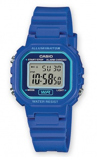 Casio Collection LA-20WH-2AEF digital Uhr mit Automatischer Kalender / Resin blau