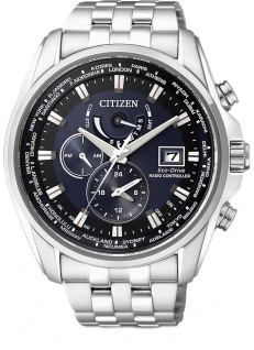 Citizen Eco-Drive Solar Herren Edelstahlband 20 bar Analog Quartz Datum AT9030-55L AT9030