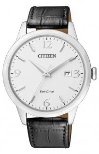 Solaruhr Citizen Eco-Drive Sports Herrenuhr Armbanduhr mit Lederarmband BM7300-09A