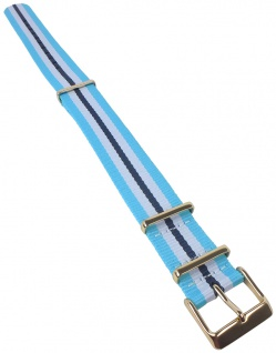 Timex | Uhrenarmband Durchzugsband Textil Band 20mm blau/weiß für TW2P91000