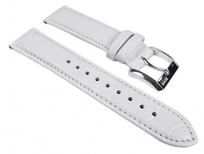 Hugo Boss Uhrenarmband Leder Weiss 20mm 1502225, 1502266