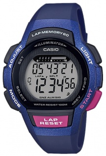 Casio Collection Kinderuhr blau 3 Tagesalarme 10 BAR Resin LWS-1000H-2AVEF