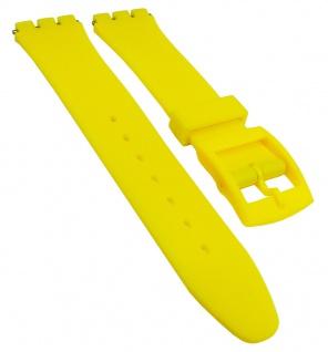 Minott Ersatzband 17mm Kunststoff gelb flach passend zu Swatch