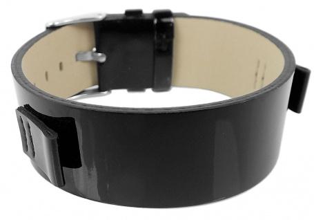 s.Oliver Ersatzband Unterlageband 10mm aus Leder schwarz glänzend SO-2342-LQ