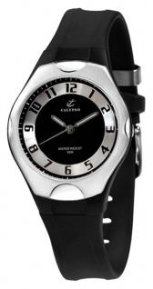 Calypso Watches   analoge Damenarmbanduhr Quarz Kunststoff schwarz mit Leuchtzeigern K5162/2