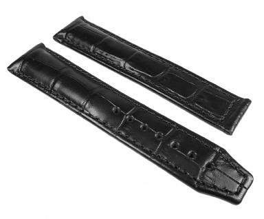 Maurice Lacroix XL Pontos Uhrenarmband Leder Louisiana Optik schwarz ohne Emblem 25094
