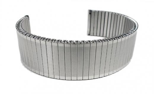 Minott Flex Band Uhrenarmband Edelstahl Zugband Silberfarben gleichlaufend