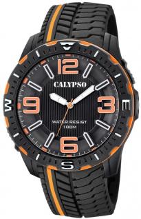 Calypso Herrenuhr analog schwarz Kunststoff PU-Band Quarzuhr K5762/3 K5762